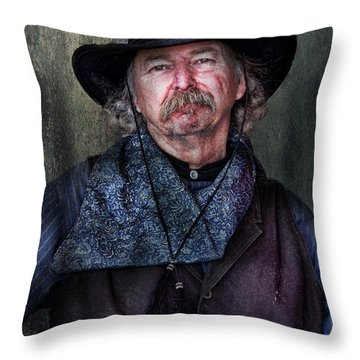 Cowboy Throw Pillow by Barbara Manis