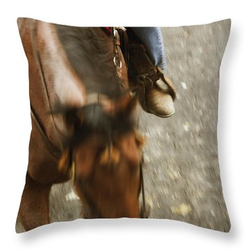 Cowboy Throw Pillow by Margie Hurwich