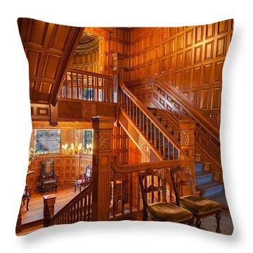 Decorative Pillows Victoria Bc : Craigdarroch Castle Stairwell Photograph by Mike Reid