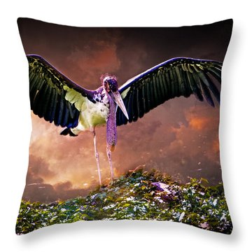 Crane The Lawyer Throw Pillow by Chris Lord
