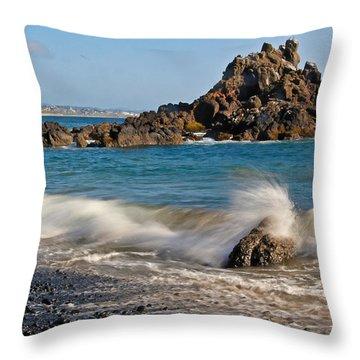 Crashing Of The Waves Throw Pillow by Athena Mckinzie