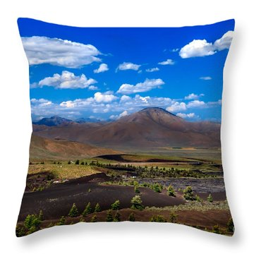 Craters Of The Moon Throw Pillow by Robert Bales