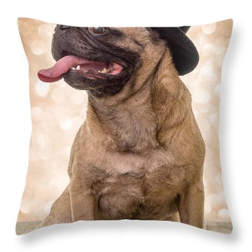 Crazy Top Dog Throw Pillow by Edward Fielding