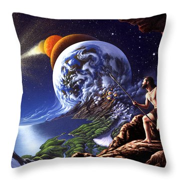 Creation Throw Pillow by Jerry LoFaro