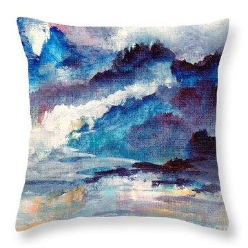 Creation Throw Pillow by Kathy Bassett