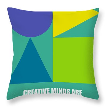 Creative Minds Poster Throw Pillow by Naxart Studio