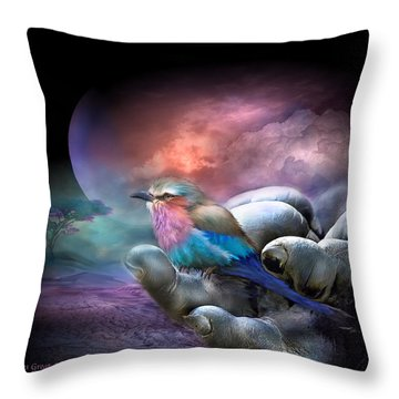 Creatures Great And Small Throw Pillow by Carol Cavalaris