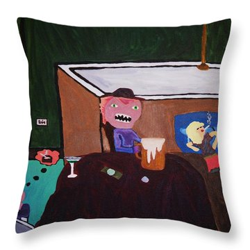 Creatures Of The Night Throw Pillow by Bamhs Blair