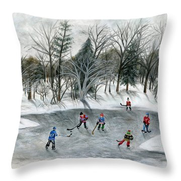 Credit River Dreams Throw Pillow by Brianna Mulvale
