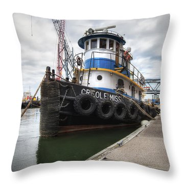 Creole Miss Throw Pillow by Eric Gendron