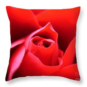Crimson Throw Pillow by Patti Whitten