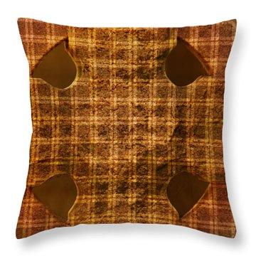 Criss-cross Throw Pillow by Floyd Menezes