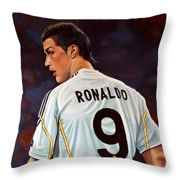 Cristiano Ronaldo Throw Pillow by Paul Meijering