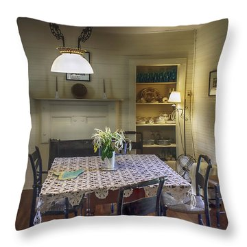 Cross Creek Country Dining Throw Pillow by Lynn Palmer
