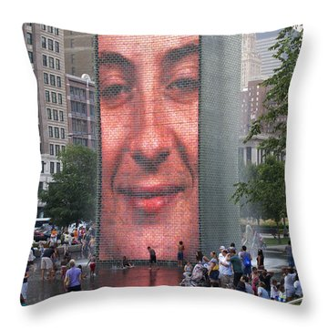 Crowd Watching Throw Pillow by Ann Horn
