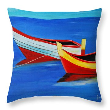 Cruising On A Bright Sunny Day Throw Pillow by Sonali Kukreja