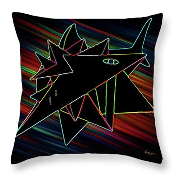 Crystal White Throw Pillow by Carl Hunter