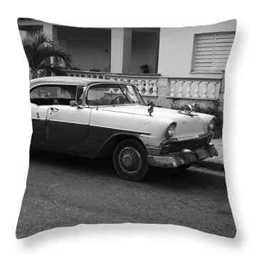 Cuban Car Throw Pillow by Norman Pogson