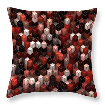 Cubed Again Throw Pillow by Jack Zulli