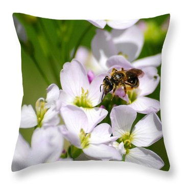 Cuckoo Flowers Throw Pillow by Christina Rollo