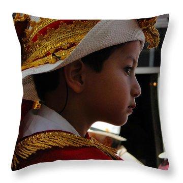 Cuenca Kids 249 Throw Pillow by Al Bourassa