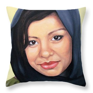Cultured Beauty Throw Pillow by Malinda  Prudhomme