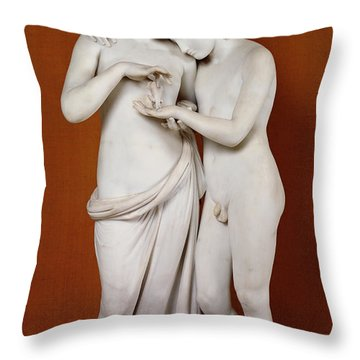 Cupid And Psyche Throw Pillow by Antonio Canova