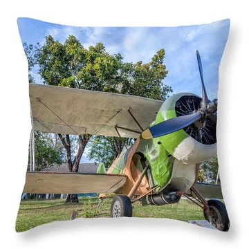 Curtiss Hawk IIi  Throw Pillow by Adrian Evans