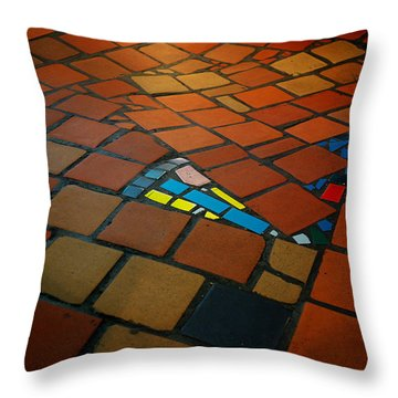 Curvy Floor Throw Pillow by Ivan Slosar