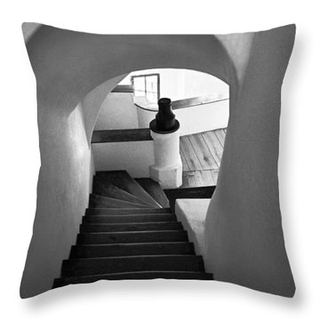 Custom Stairs To Heaven-dracula's Castle  Throw Pillow by Dorin Stef