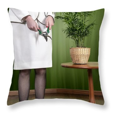 Cutting Plant Throw Pillow by Joana Kruse