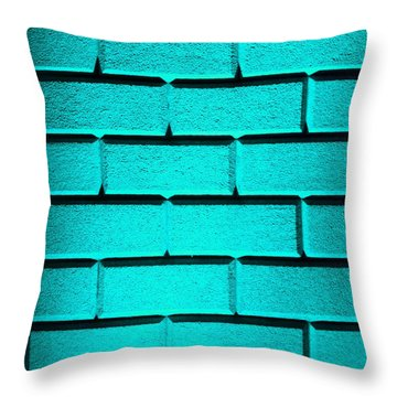 Cyan Wall Throw Pillow by Semmick Photo