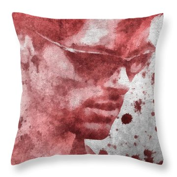 Cyclops X Men Paint Splatter Throw Pillow by Dan Sproul