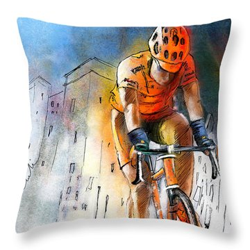 Cycloscape 01 Throw Pillow by Miki De Goodaboom