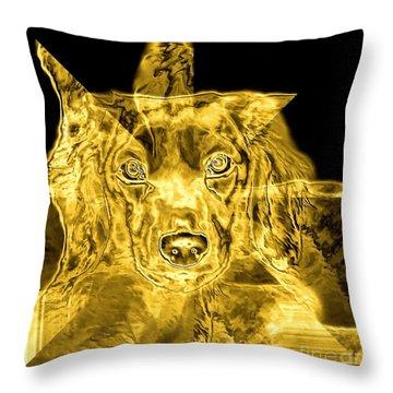 Dachshund Art Throw Pillow by Maria Urso
