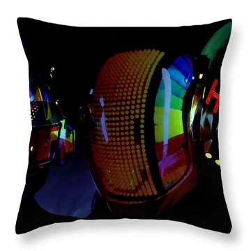 Daft Punk Painting Throw Pillow by Marvin Blaine