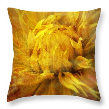 Dahlia Abstract Throw Pillow by Garry Gay