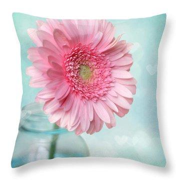 Daisy Love Throw Pillow by Amy Tyler