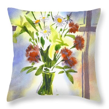 Daisy Supreme Throw Pillow by Kip DeVore