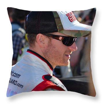 Dale Earnhardt Jr. Throw Pillow by Mark Spearman