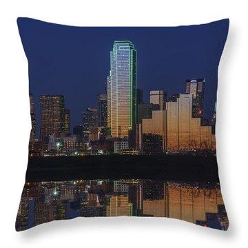 Dallas Aglow Throw Pillow by Rick Berk