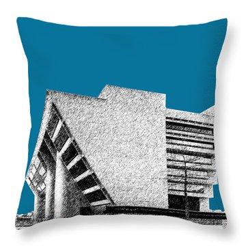 Dallas Skyline City Hall - Steel Throw Pillow by DB Artist