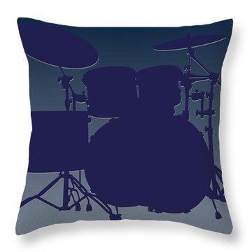 Dallas Cowboys Drum Set Throw Pillow by Joe Hamilton
