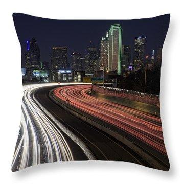 Dallas Night Throw Pillow by Rick Berk