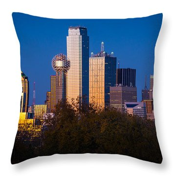 Dallas Skyline Throw Pillow by Inge Johnsson