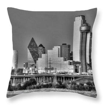 Dallas The New Gotham City  Throw Pillow by Jonathan Davison