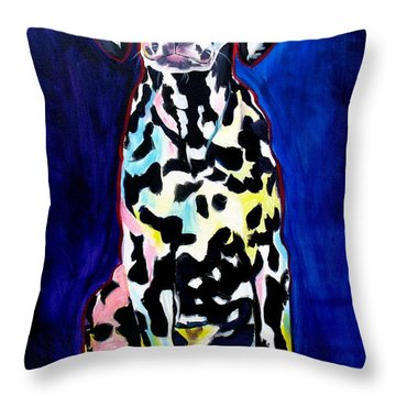 Dalmatian - Polka Dots Throw Pillow by Alicia VanNoy Call