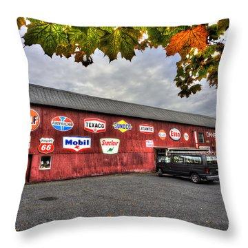 Dan S Antiques Building Throw Pillow by Dan Friend