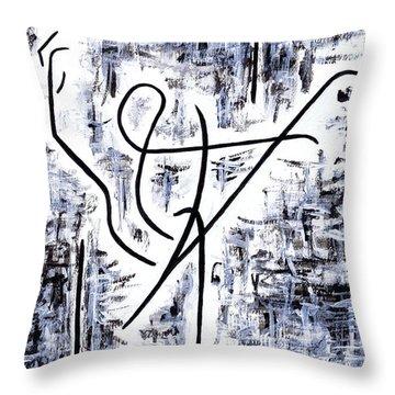 Dance Class Throw Pillow by Kamil Swiatek