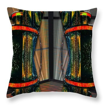 Dance In The Abstract Throw Pillow by John Haldane
